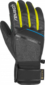 Reusch Beat GTX  6001340 7686 black yellow grey front
